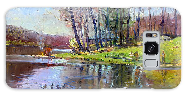 Reflections Galaxy Case - Early Spring In Bear Mountain by Ylli Haruni