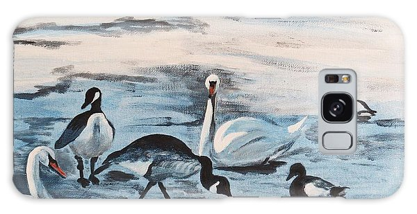 Early Spring Thaw With Ducks And Geese Galaxy Case by Judy Via-Wolff