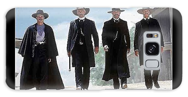 Earp Brothers And Doc Holliday Approaching O.k. Corral Tombstone Movie Mescal Az 1993-2015 Galaxy Case