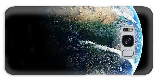 Earth Galaxy Case - Earth Day And Night Space View by Johan Swanepoel
