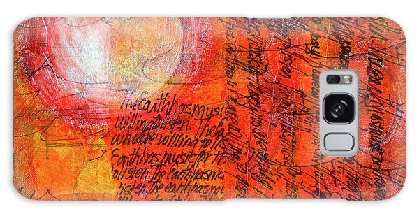 Galaxy Case featuring the mixed media Earth Music by Nancy Merkle