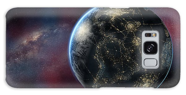 Earth One Day Galaxy Case by David Collins
