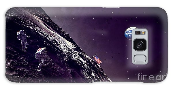 Earth Rise On The Moon Galaxy Case by Methune Hively