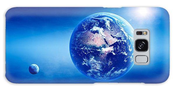 Earth Galaxy Case - Earth Sunrise Deep Space by Johan Swanepoel