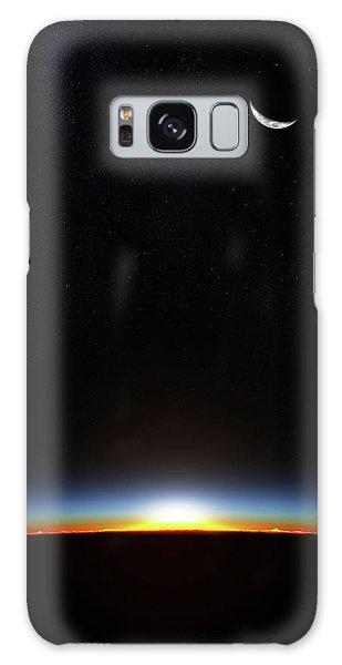 Layers Galaxy Case - Earth Sunrise Through Atmoshere by Johan Swanepoel