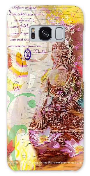 Earth Touching Buddha Galaxy Case