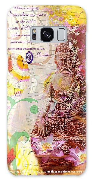 Earth Touching Buddha Galaxy Case