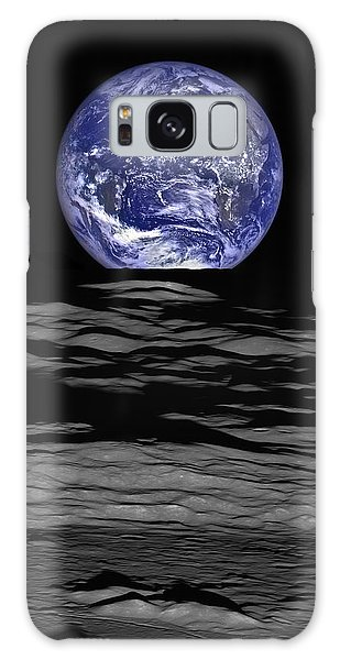 Earth From Space Galaxy Case - Earthrise by Mark Kiver