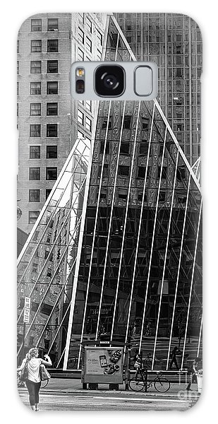 East 42nd Street, New York City  -17663-bw Galaxy Case