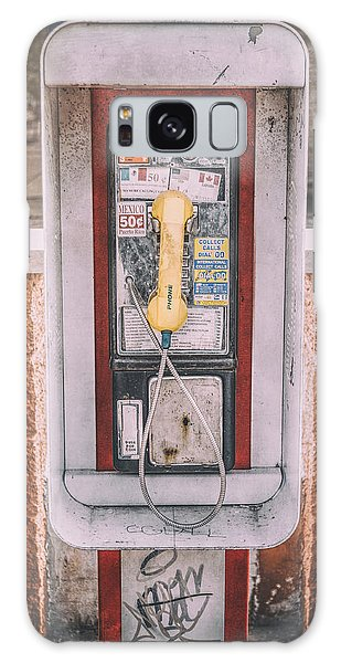 Chrome Galaxy Case - East Side Pay Phone by Scott Norris