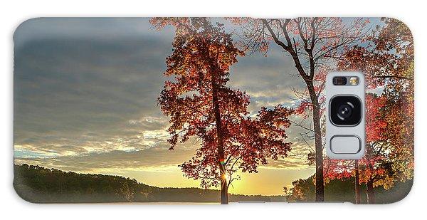 East Texas Autumn Sunrise At The Lake Galaxy Case