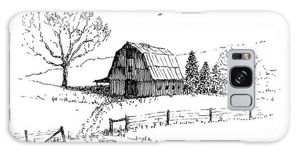 East Texas Hay Barn Galaxy Case
