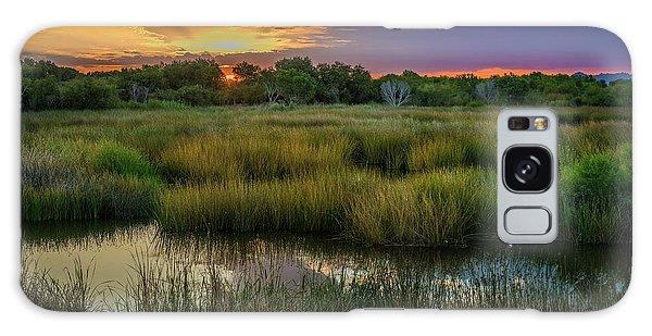 East Wetlands Sunrise Galaxy Case