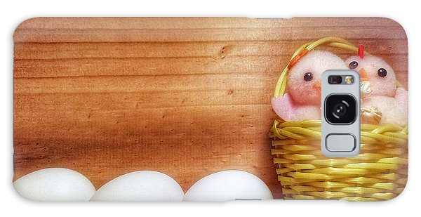 Easter Basket Of Pink Chicks With Eggs Galaxy Case