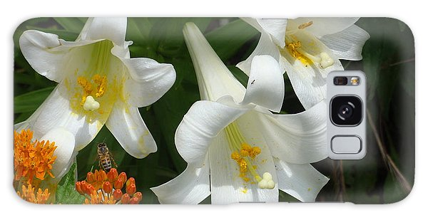 Easter Lilies And Butterfly Weed Galaxy Case