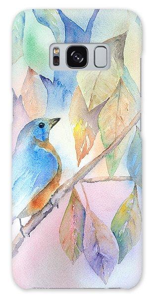 Eastern Bluebird Galaxy Case - Eastern Bluebird by Arline Wagner