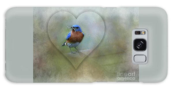 Eastern Bluebird Galaxy Case by Brenda Bostic