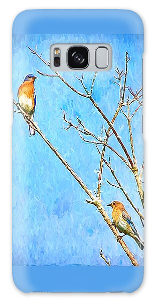 Eastern Bluebird Couple Galaxy Case