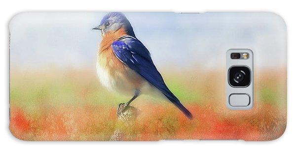 Eastern Bluebird Galaxy Case - Eastern Bluebird by Donna Kennedy