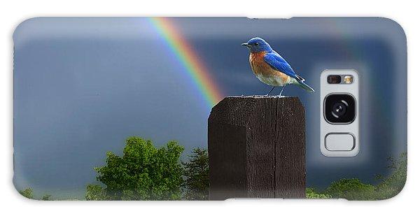 Eastern Bluebird Galaxy Case - Eastern Bluebird by Ron Jones