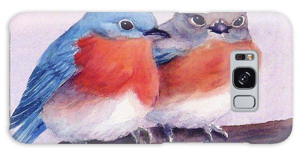 Eastern Bluebirds Galaxy Case