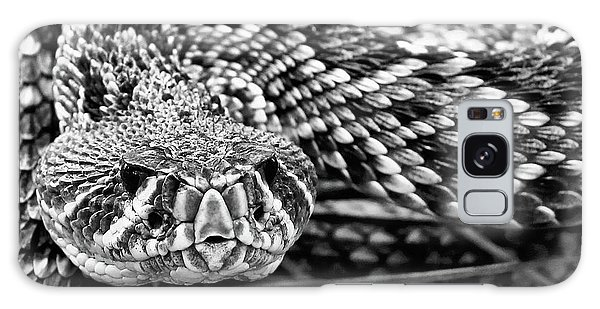 Eastern Diamondback Rattlesnake Black And White Galaxy Case
