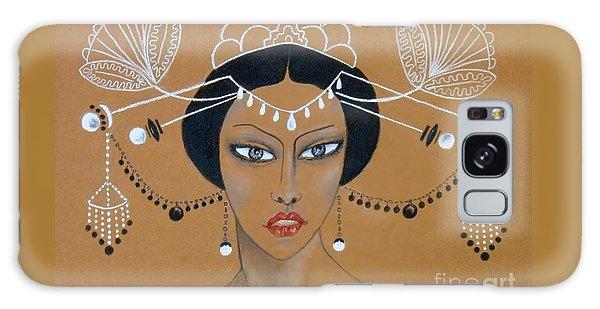 Eastern Elegance -- Whimsical Asian Woman Galaxy Case