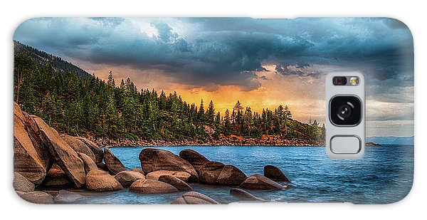 Dusk Galaxy Case - Eastern Glow At Sunset by Anthony Bonafede