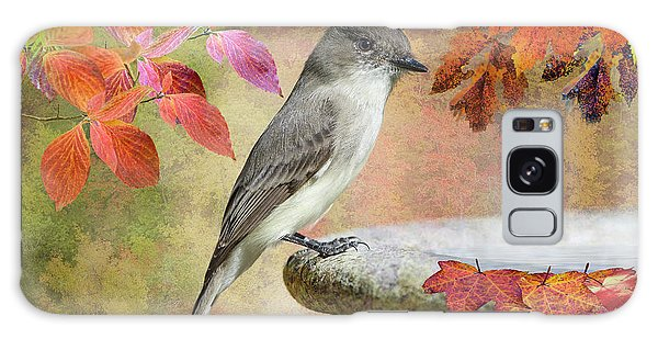 Eastern Phoebe In Autumn Galaxy Case by Bonnie Barry