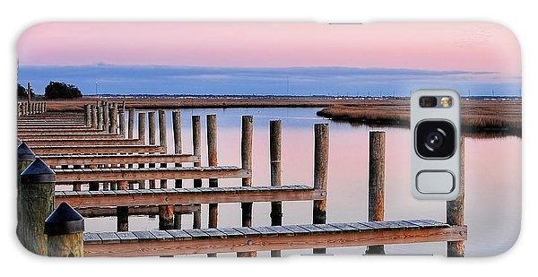 Eastern Shore On The Docks Galaxy Case by Lara Ellis