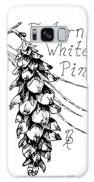 Eastern White Pine Cone On A Branch Galaxy Case