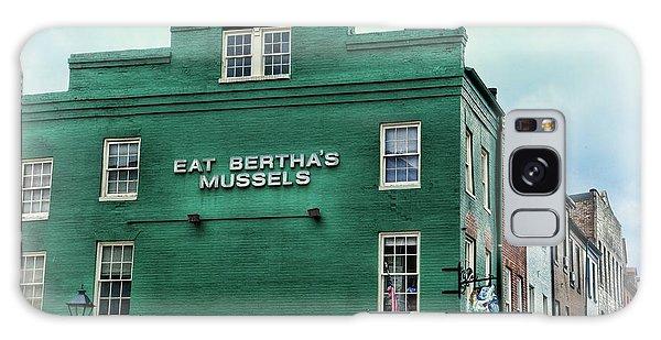 Eat Berthas Mussels  Galaxy Case by Paul Ward