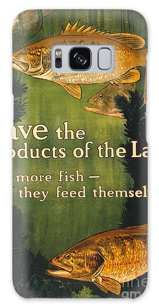 Eat More Fish Vintage World War I Poster Galaxy Case by John Stephens