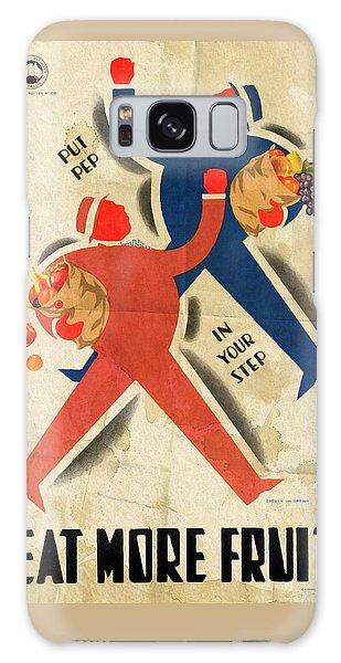 Eat More Fruit - Vintage Poster Folded Galaxy Case