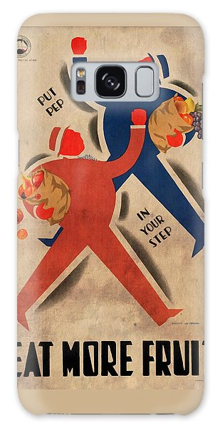 Eat More Fruit - Vintage Poster Vintagelized Galaxy Case