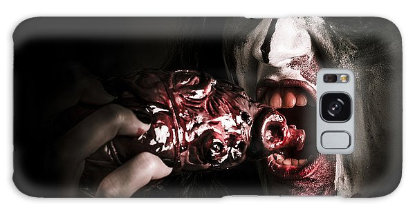 Heartache Galaxy Case - Eat Your Heart Out. Zombie Eating Bloody Heart by Jorgo Photography - Wall Art Gallery