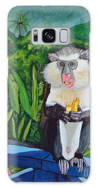 Eating A Banana Galaxy Case by Laura Forde