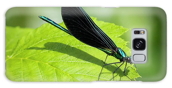 Galaxy Case featuring the photograph Ebony Jewelwing by Ricky L Jones