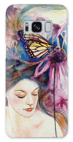 Galaxy Case featuring the painting Echinacea by Ragen Mendenhall