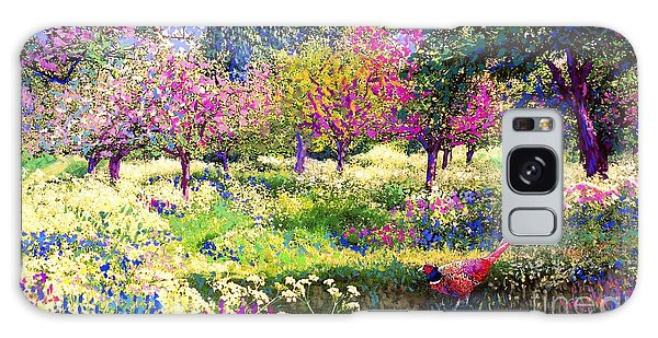 Echoes From Heaven, Spring Orchard Blossom And Pheasant Galaxy Case