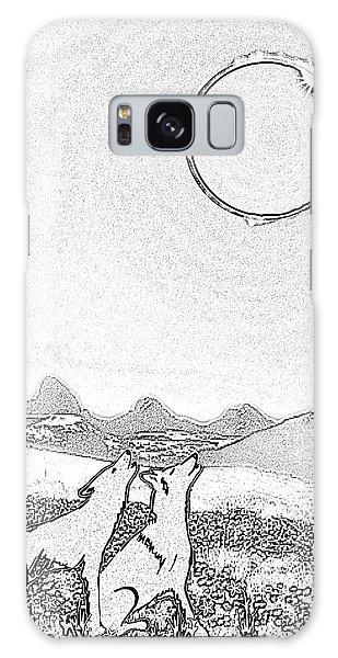 Eclipcse Graphic Pen Outline Galaxy Case