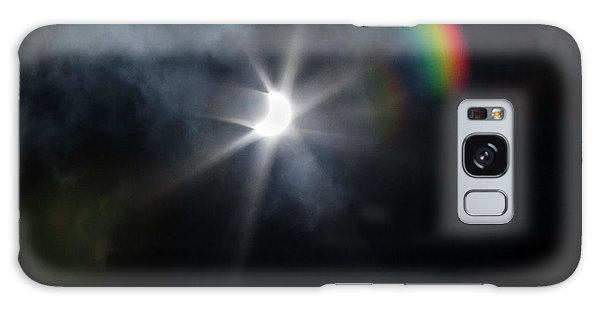 Solar Eclipse 2017 And Rainbow Galaxy Case