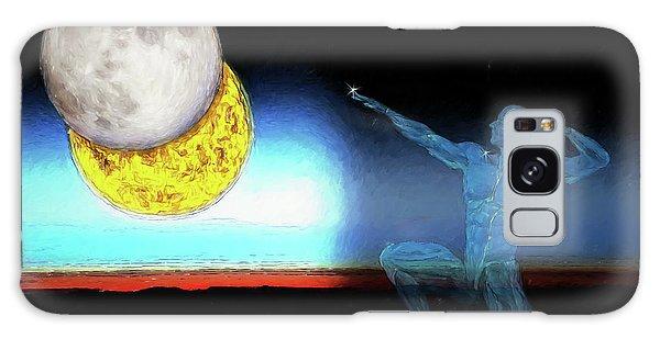 Galaxy Case featuring the digital art Eclipse 2017 by John Haldane
