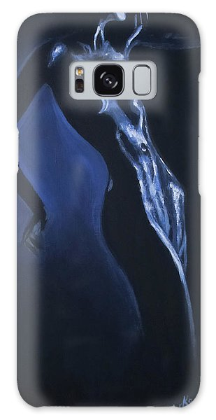 Galaxy Case featuring the painting Eclipse by Jarko Aka Lui Grande