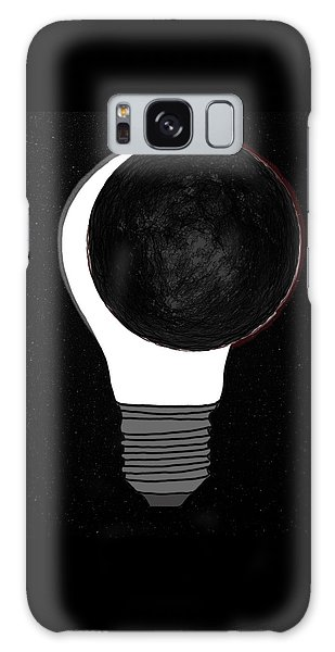 Galaxy Case featuring the drawing Eclipse by John Haldane