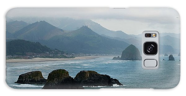Ecola State Park View Of Haystack Rock And 3 Arch Rocks Galaxy Case