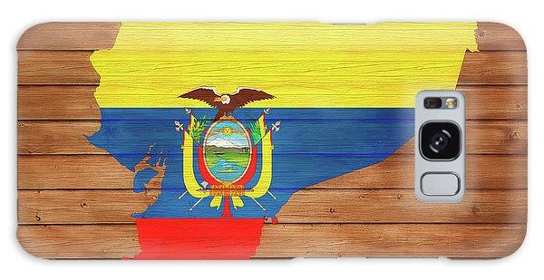 Traveler Galaxy Case - Ecuador Rustic Map On Wood by Dan Sproul