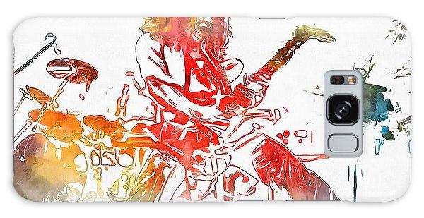 Eddie Van Halen Paint Splatter Galaxy Case by Dan Sproul
