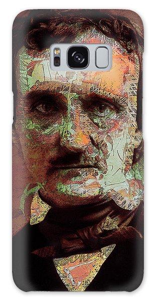 Galaxy Case featuring the digital art Edgar Allan Poe Artsy 2 by Joy McKenzie