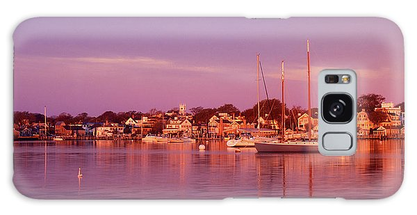 Edgartown Harbor Galaxy Case by John Burk